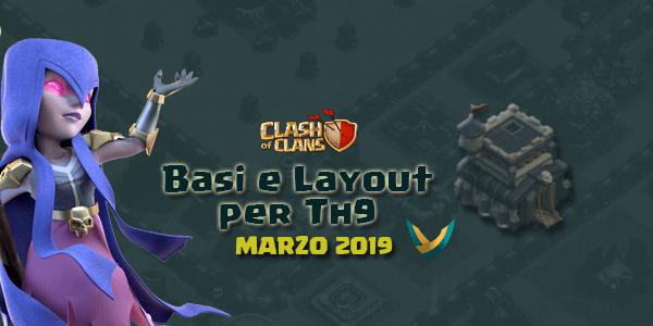 Layout Basi War per Th9 – Marzo 2019 | Clash of Clans