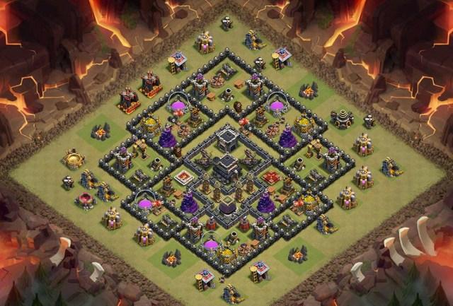 th9 war base coc bz0mnl856 - Layout Basi War per Th9 – Marzo 2019 | Clash of Clans