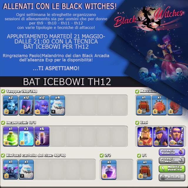 21 maggio - Training con le Black Witches, BatIceBoWi per TH 12