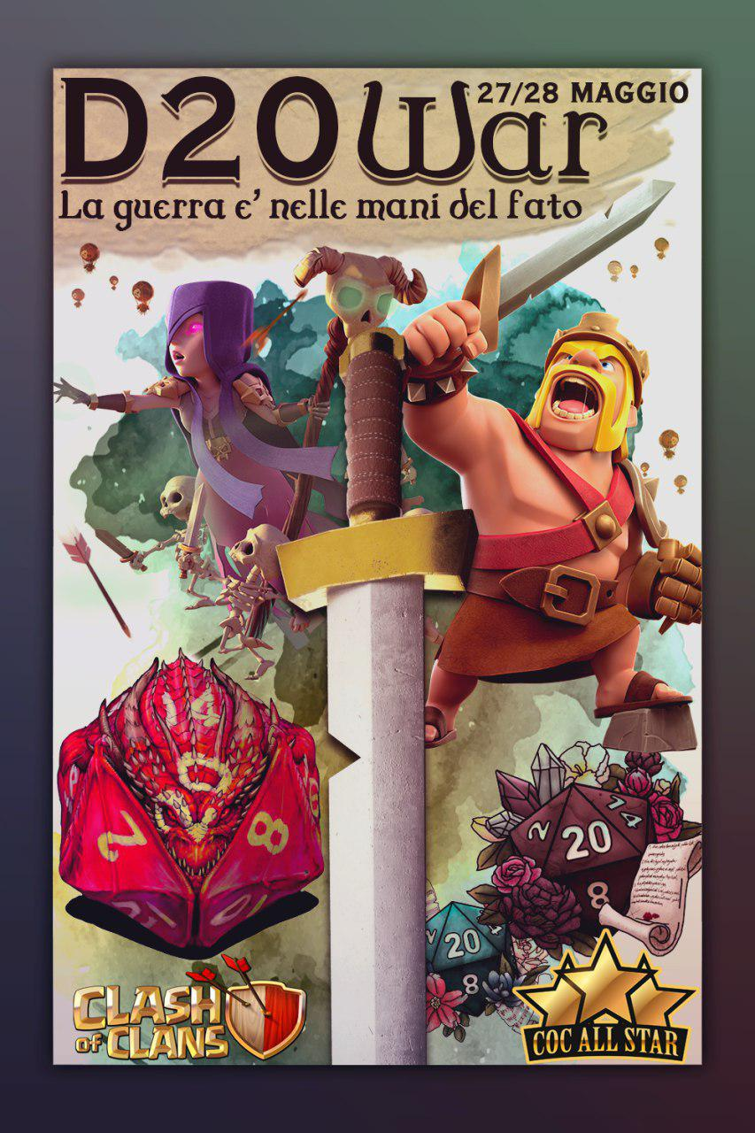 """""""D20 War"""" – Nuovo Evento in Clash of Clans All Star"""