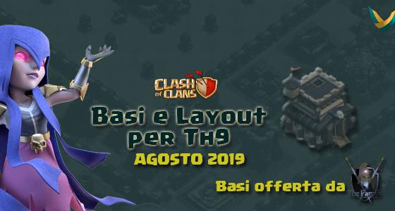 Agosto 2019 - Layout Basi War per Th9 – Agosto 2019