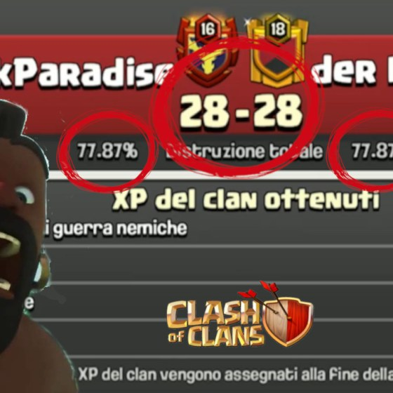 MINIATURA 118 - Clash of Clans ITA -E118- Pareggio Amaro in CWL