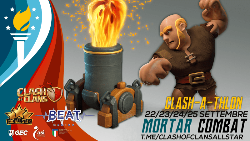 Clash-a-thlon: Mortar Combat COC All Star – Aperte iscrizioni!