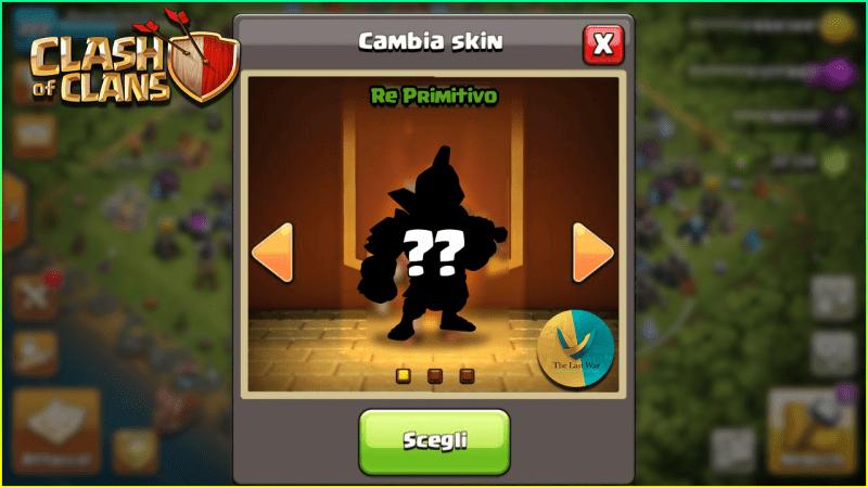 Skin Febbraio su Clash of Clans: ecco il Re Primitivo