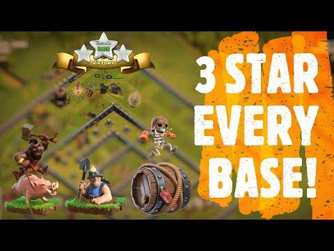 Hog + Miner + Super WallBraker EASY 3 STARS