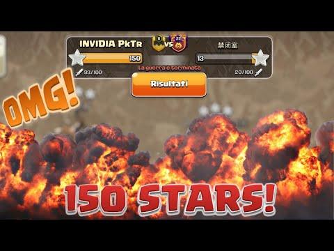 ABBIAMO FATTO UNA WAR DA 150 STELLE! Clash of Clans
