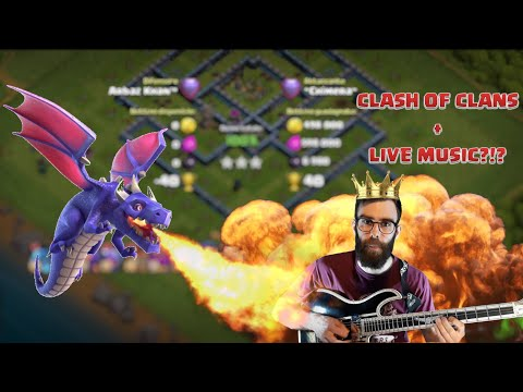 FEDERICO KING OF THE DRAGONS (BEST ATTACK) + LIVE MUSIC?!? Clash of Clans