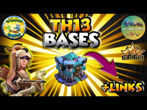 Clash Of Clans Top 10 TH13 WAR BASES/CWL + LINKS 2020 May Best Town Hall 13 War Base Th13