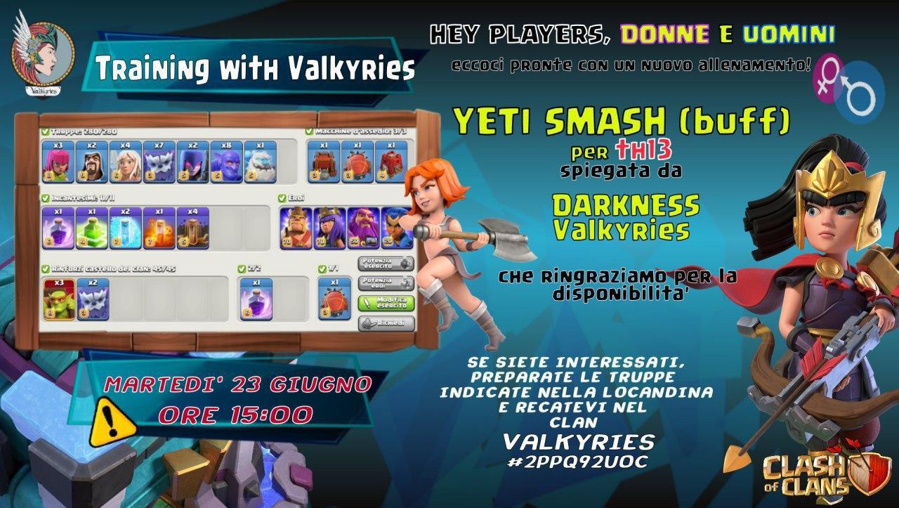 Allenamento con le Valkyrie: YETI SMASH per Th13