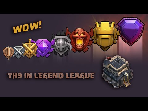 UN SUPER TH9 A LEGA LEGGENDA! clash of clans