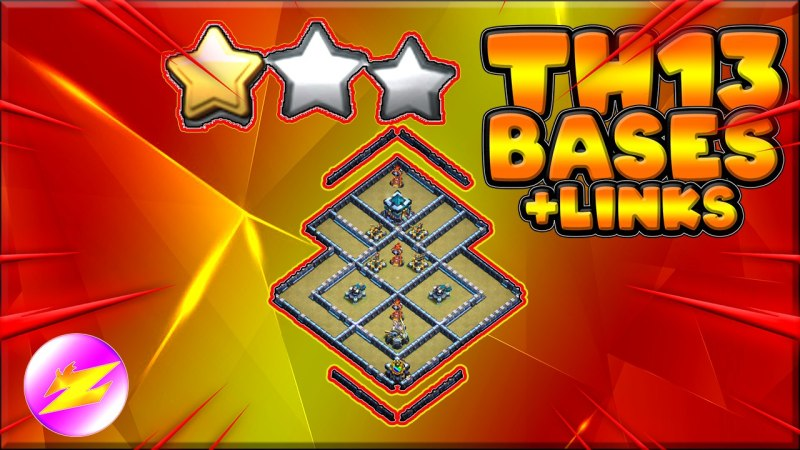 LNew 6 TH13 War Base Woth Copy Link – BEST Anti 3 Star TH13 Base Clash of Clans