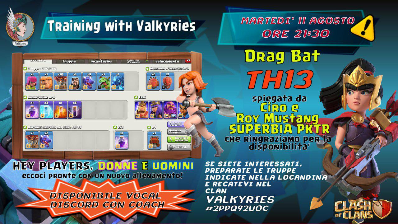 Allenamento con le VALKYRIES – DragBat per TH13