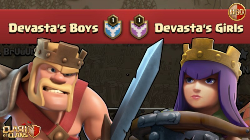 Devasta Boys vs Devasta Girls -E167- Clash of Clans ITA