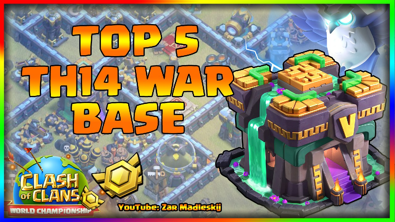 New Top 5 Th14 War Base With Link