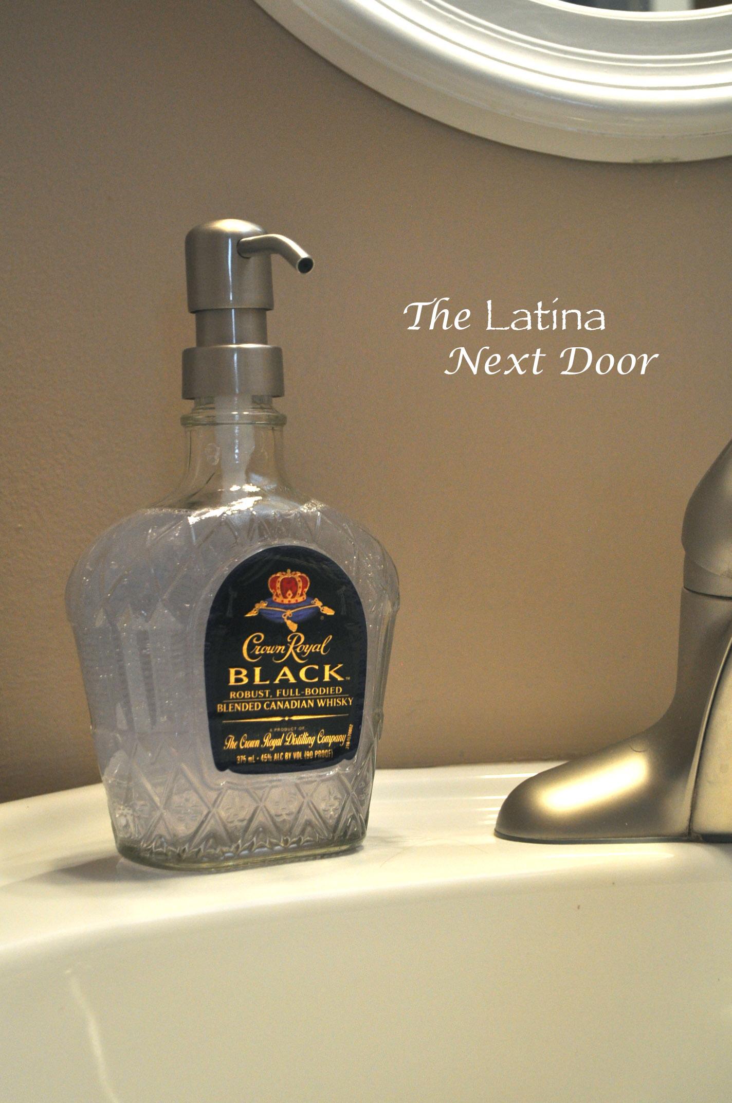 750 mL Crown Royal Black Soap Dispenser