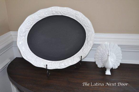 White Dish Chalkboard 3 1024x680 De Plato a Pizarra