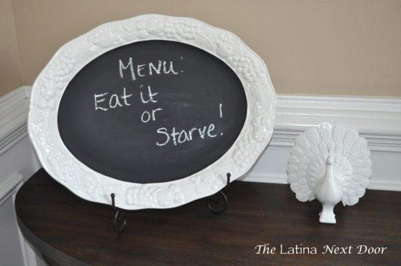 White Dish Chalkboard 5 1024x680 De Plato a Pizarra