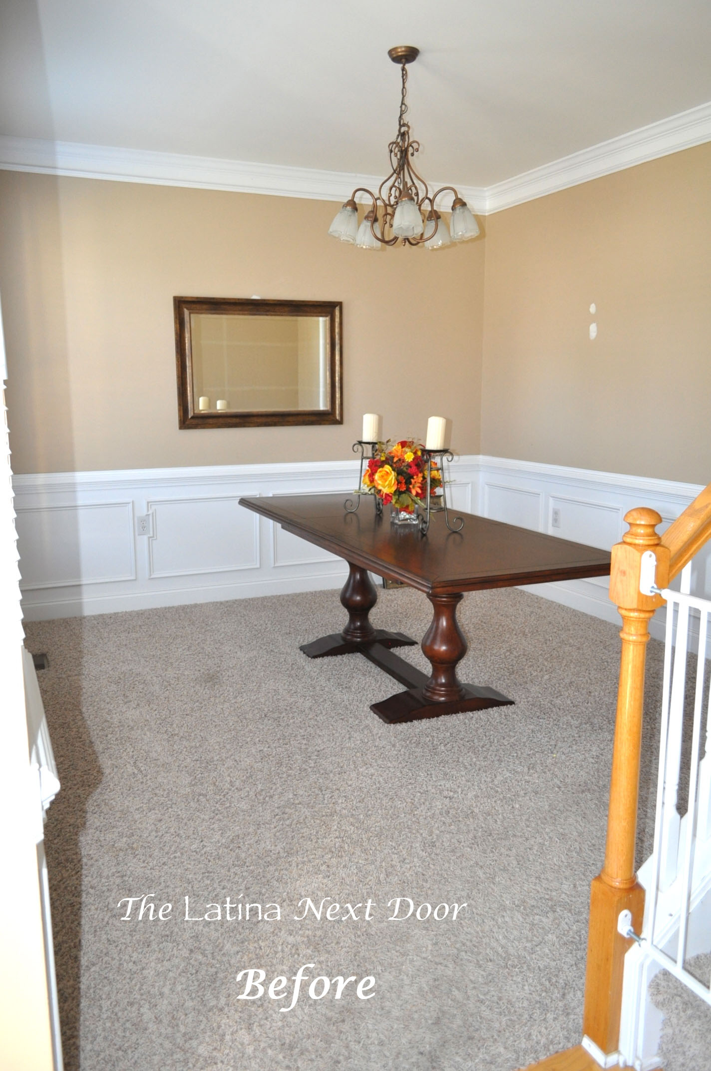 Dining BEFORE Dining Room Reveal