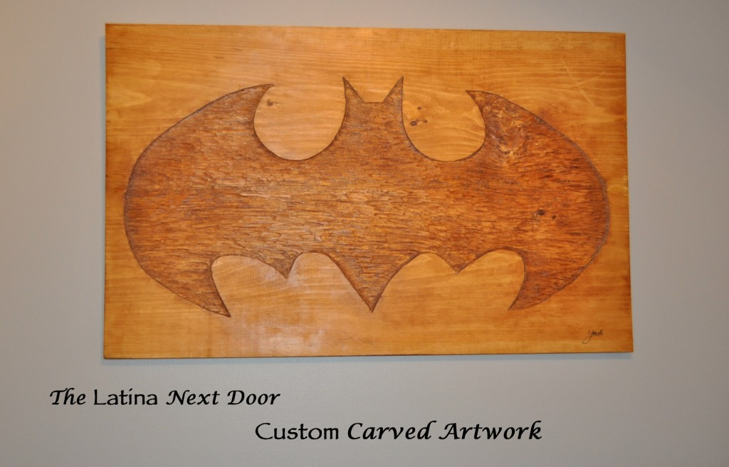DIY Batman Carving DIY Batman Carved Art