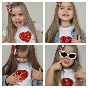 %name DIY Sequin Heart Tee Collage