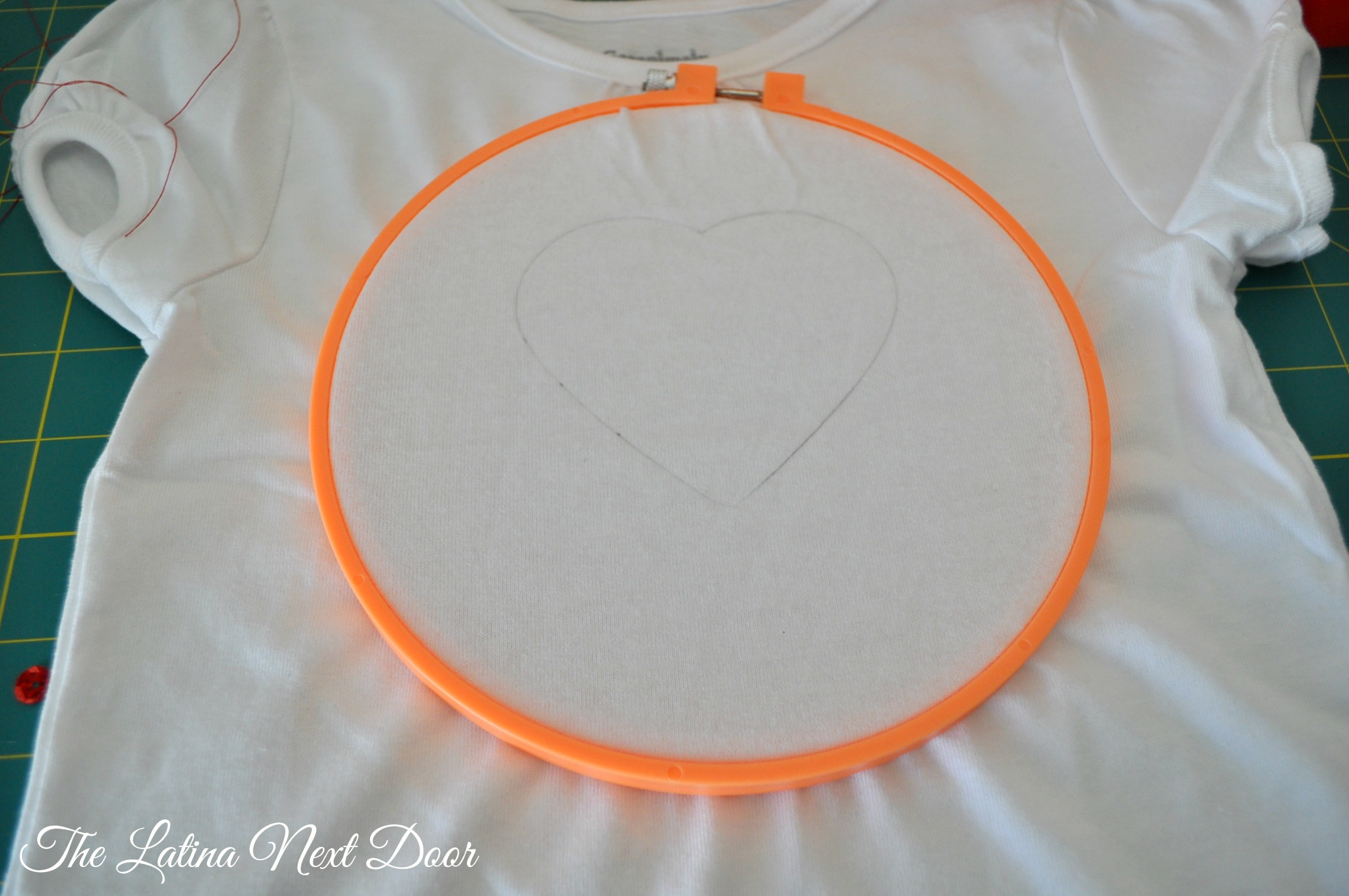 DIY Sequin Heart Tee Tutorial 4 DIY Sequin Heart T shirt Tutorial for Valentines Day