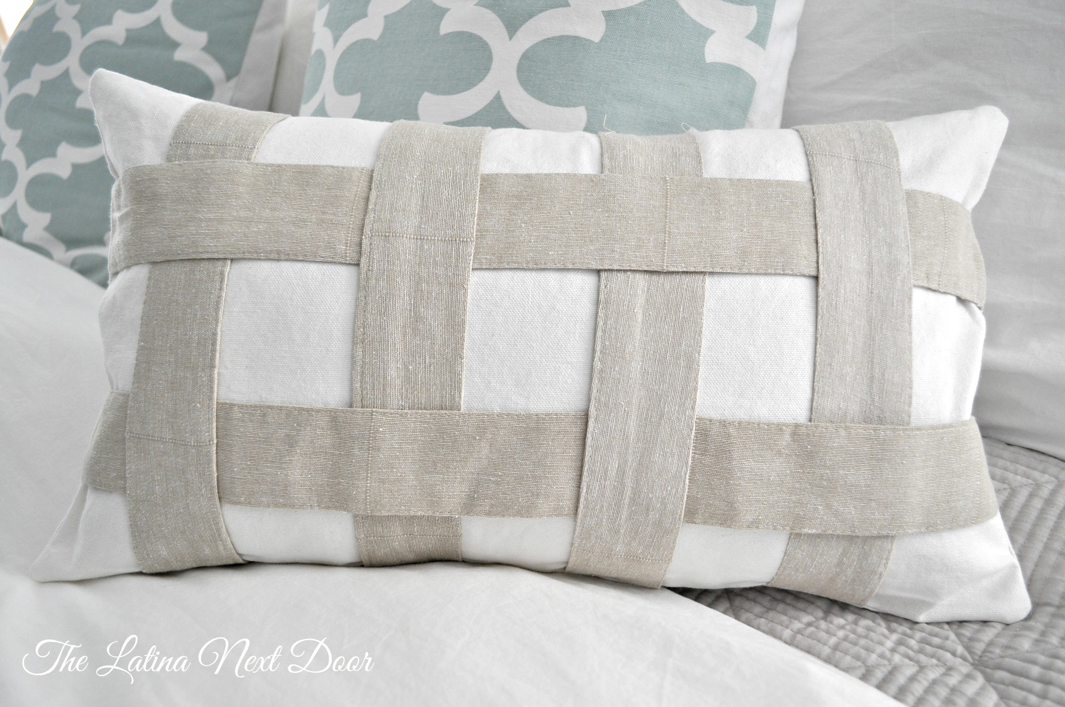 Tie Back Pillow Repurpose those unused curtain tie backs