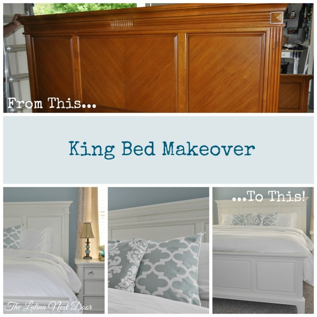 King Bed Makeover Collage 1024x1024 King Bed Makeover For Master Bedroom