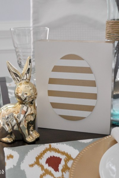 Easter Table Setting on a Budget