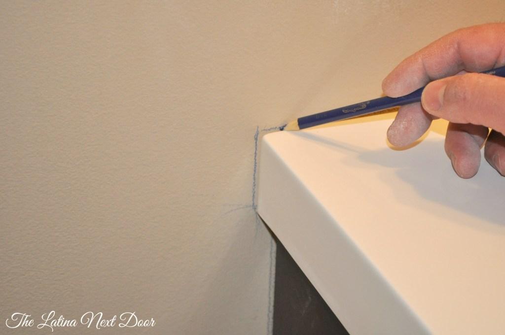 Powder Bathroom Reveal process 3 1024x680 Powder Bathroom Reveal