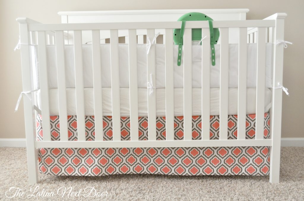 DIY crib skirt Done 1024x680 DIY Crib Skirt