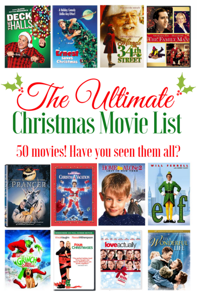 Ultimate Christmas Movie List