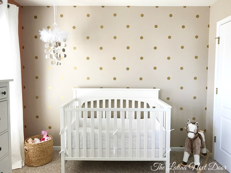 Removable Wall Decals 2 Girls Nursery Before