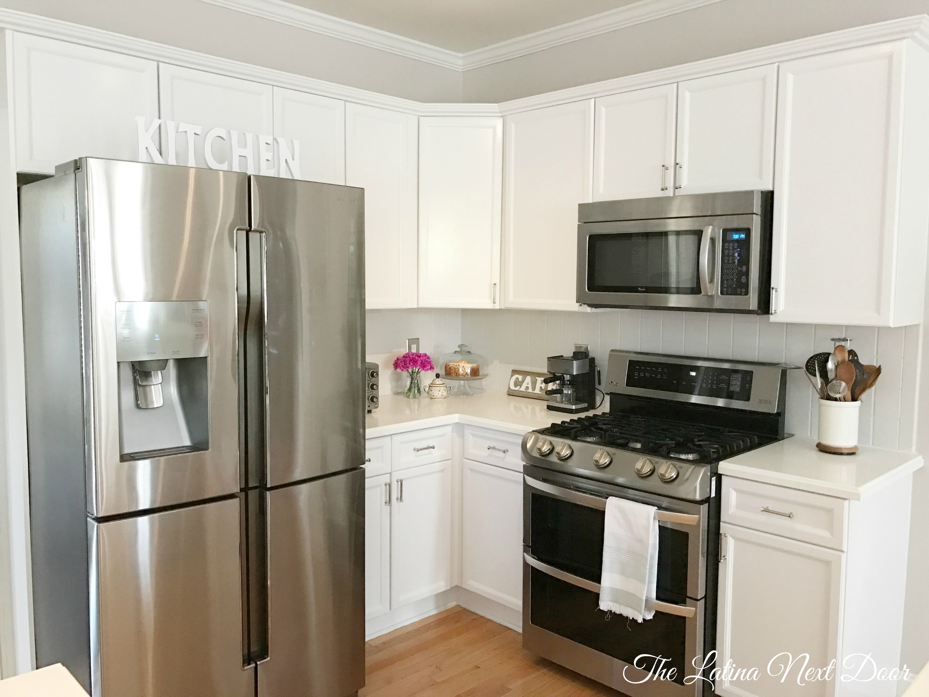 SW Painted Kitchen AFTER 1 How To Paint Kitchen Cabinets