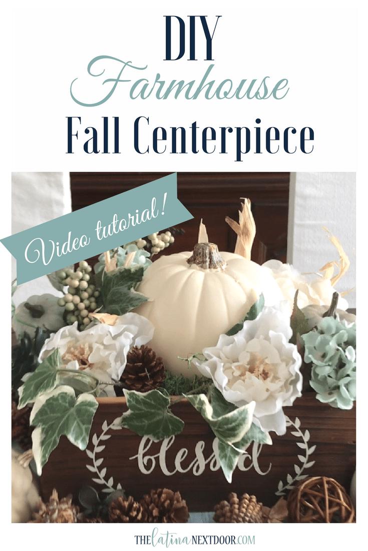 DIY Farmhouse FAll Centerpiece DIY Farmhouse Fall Centerpiece