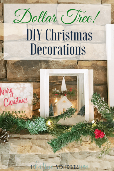 DIY Christmas Decorations Using Dollar Tree Products