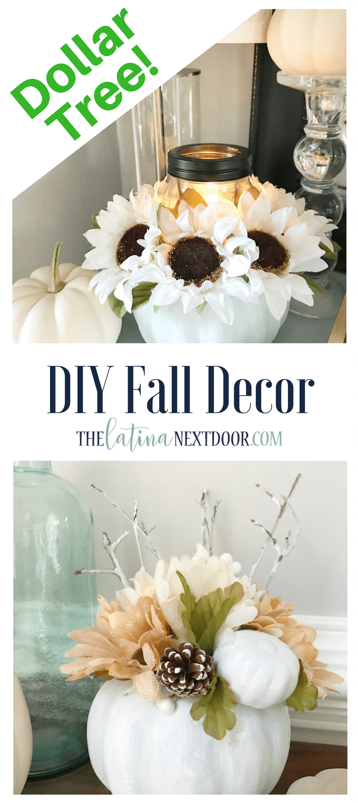 DIY Fall Decor Dollar Tree Fall Decor