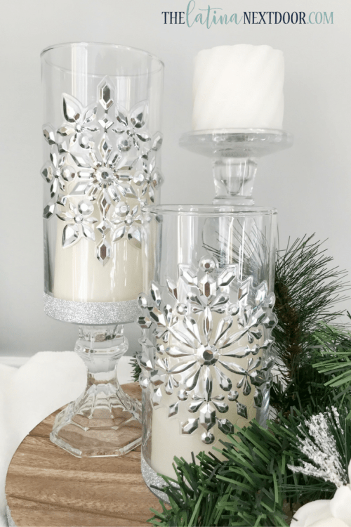 4 4 Dollar Tree Christmas Candleholders