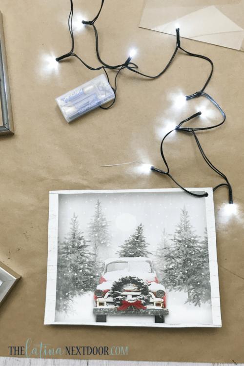 7 1 Christmas Lighted DIY Shadow Box