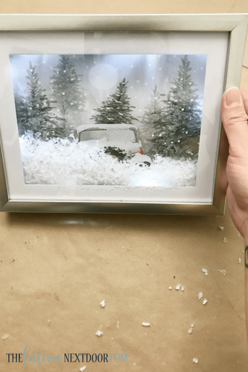 DIY Farmhouse Christmas Ornament 1 Christmas Lighted DIY Shadow Box