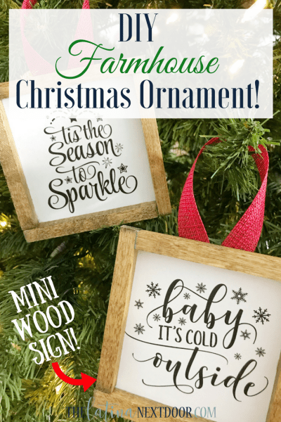 DIY Farmhouse Christmas Ornament
