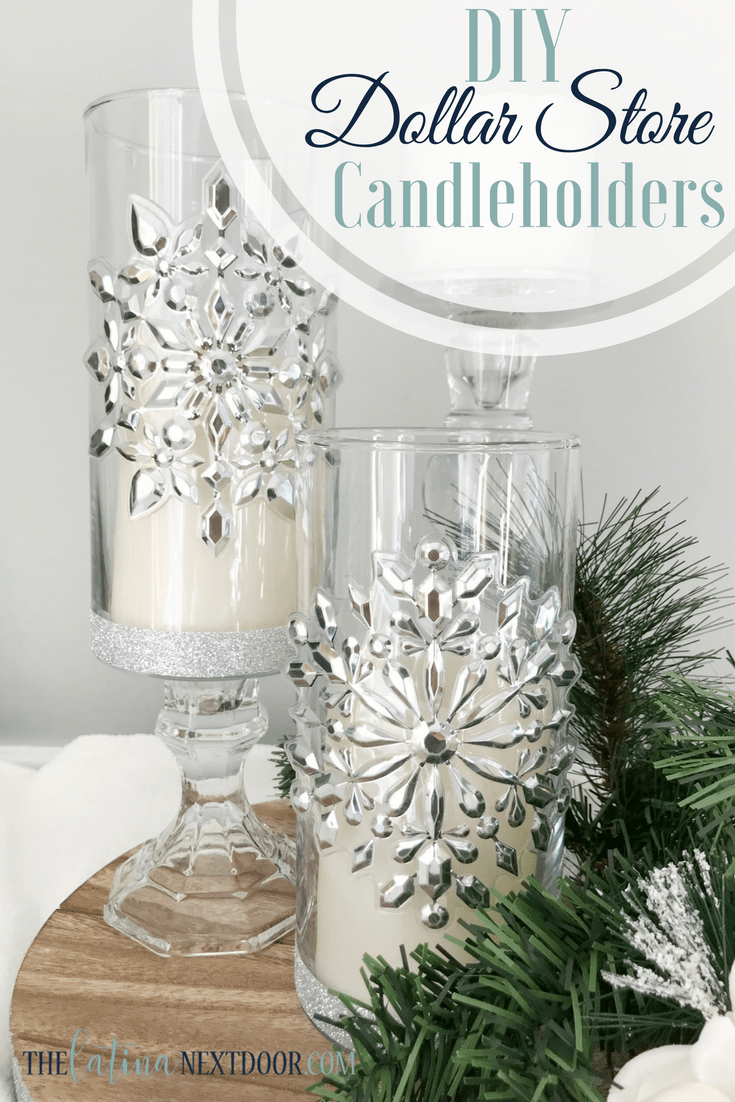 Dollar Tree Christmas Candleholders