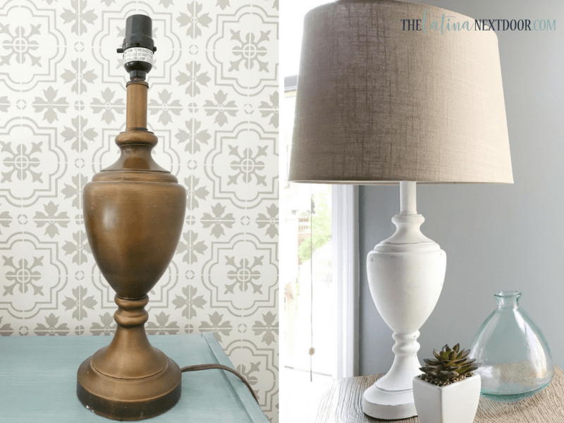 Thrift Store Lamp Transformation Before and After Thrift Store Lamp Transformation
