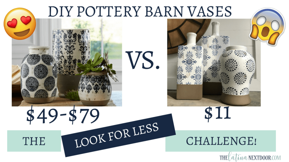 Look for Less PB Vases August 2018 Thumbnail DIY Pottery Barn Vases