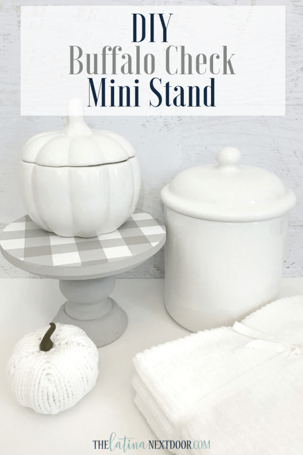 IY Buffalo Check Mini Stand Pin DIY Buffalo Check Mini Stand for Fall