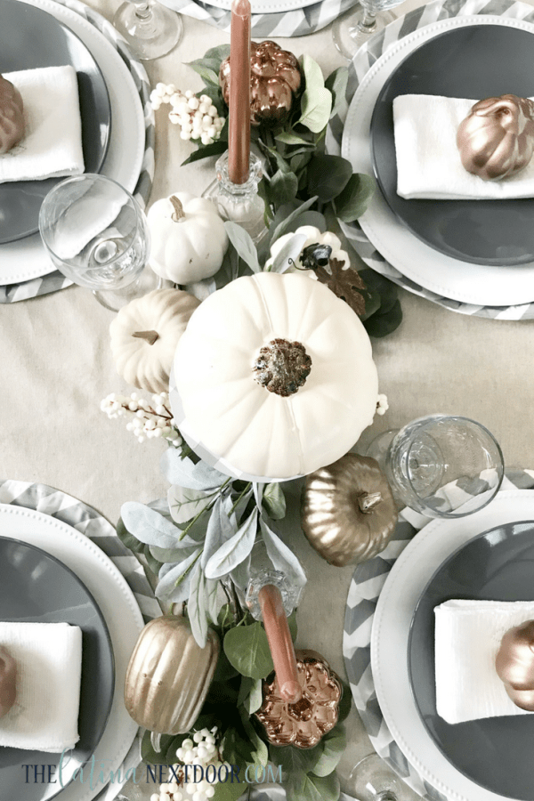 Neutral Farmhouse Fall Tablescape 5 Neutral Farmhouse Fall Tablescape