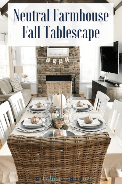 Neutral Farmhouse Fall Tablescape