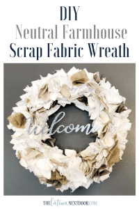 %name DIY Farmhouse Scrap Fabric Wreath