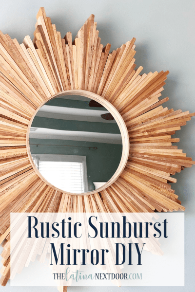 Rustic Sunburst Mirror DIY