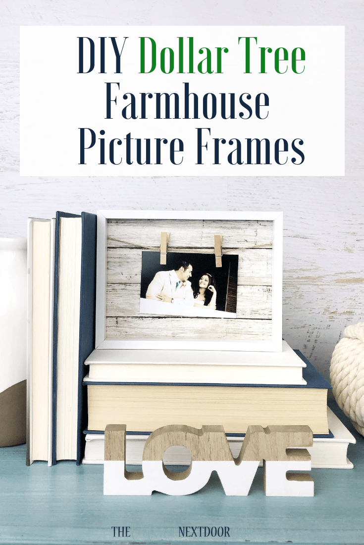 Diy Dollar Tree Farmhouse Picture Frames The Latina Next Door
