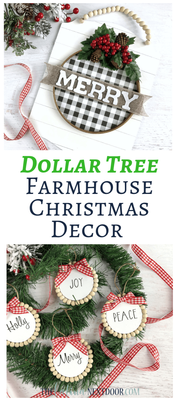 Dollar Tree Farmhouse Christmas Decor Long Pin Dollar Tree Farmhouse Christmas Ornaments